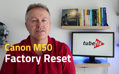 Canon M50 Factory Reset