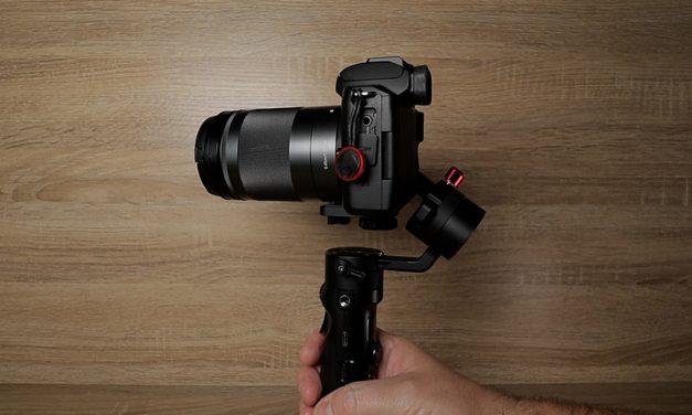 Zhiyun Crane M2 balancing Canon M50 EF-M 18-150mm